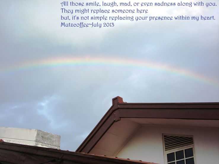rainbow above my house