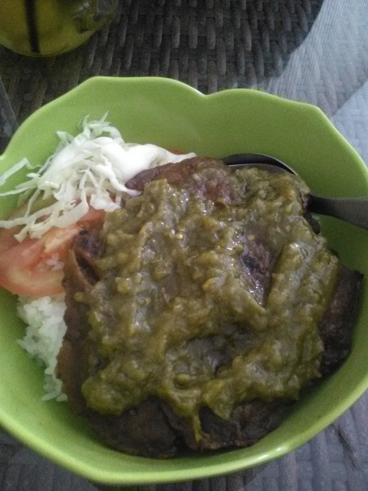 Nasi Daging Sapi Sambal Ijo