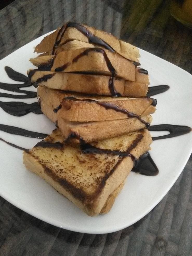 Roti Bakar Cokleat-Kacang
